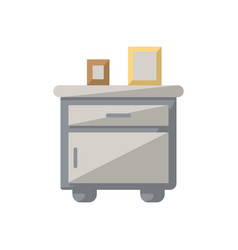 bedside table isolated icon in flat style vector image vector image