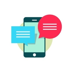 Concept of mobile phone chatting online texting vector image