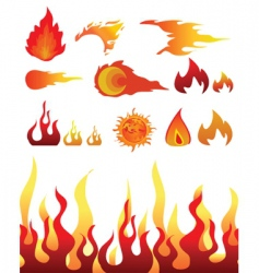 design elements fire vector image vector image