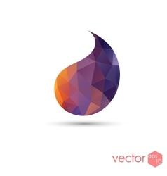 Drop poligonal sunset color template logo icon vector
