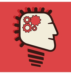 fast process work brain concept vector image vector image