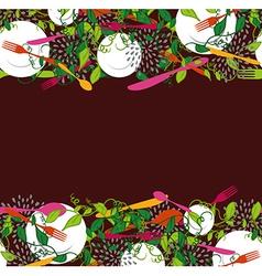 Food restaurant seamless pattern vector image vector image