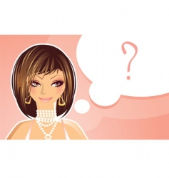 girl question vector image vector image