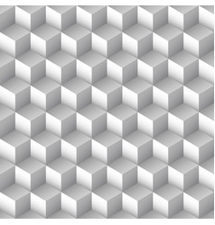monochrome cube seamless pattern vector image