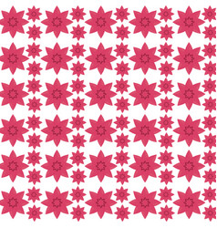 Pink flower seamless pattern design vector