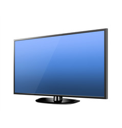 Realistic tv screen modern stylish lcd panel led vector