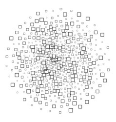 square shapes abstract black and white pattern vector image