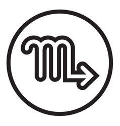 Thin line scorpio sign icon vector