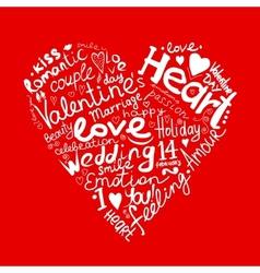 Valentine heart sketch for your design vector image
