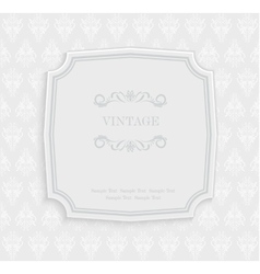 Vintage invitation and greeting card with vector