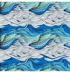 Waves gradient blue 3 vector