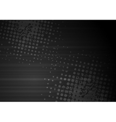 Black grunge abstract background vector image