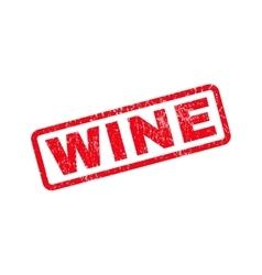 Wine rubber stamp vector