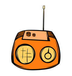 boom box icon cartoon vector image