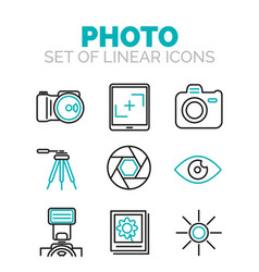 Set of photography icons vector