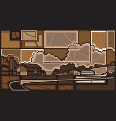 farm mosaic vector image