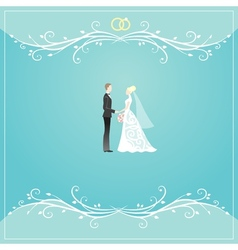 Weding background vector
