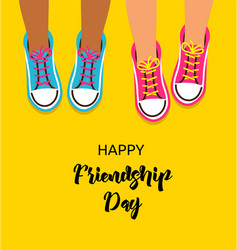 Best friends forever happy friendship day design vector