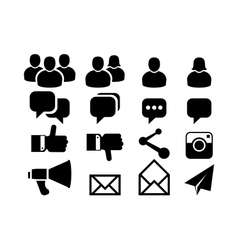 Blog and social media icons vector