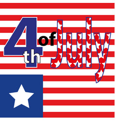 Fourth of july fourth of july celebration simple vector