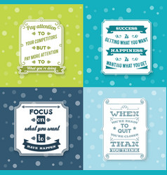 Success labels set vector