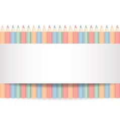 Row of color pencils vector