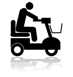 Motorized chair vector