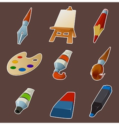 Collection of draw icons vector