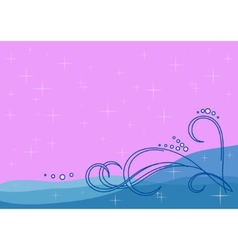 Background sea waves vector