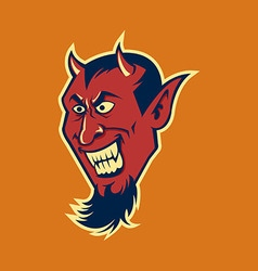 Devil fang in retro color vector