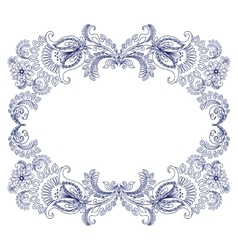 Frame with sketch doodles decorative ornate vector