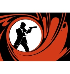 Secret agent or spy silhouette vector