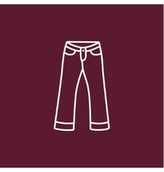 Front jeans vector