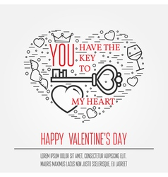 Happy valentines day greetings card labels badges vector