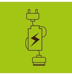 Battery power design vector