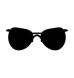 Black glasses icon Fashion design vector image