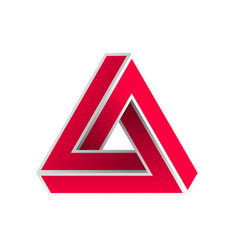 Abstract impossible triangle vector