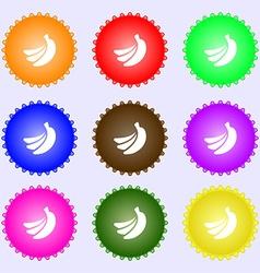 Banana icon sign big set of colorful diverse vector