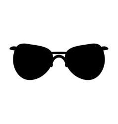 Black glasses icon Fashion design vector image