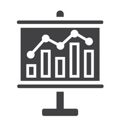 business growing chart on board solid icon vector image