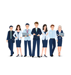 business team isolated on white background vector image vector image