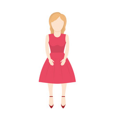 Character woman faceless image vector