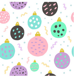 christmas balls seamless pattern vector image vector image