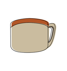 Coffee cup fresh beverage aroma icon vector