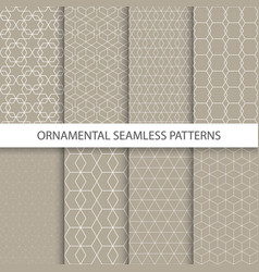 collection of retro ornamental patterns vector image