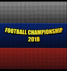 Comic football championship 2018 template vector