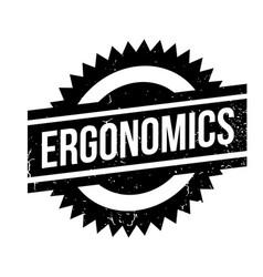 Ergonomics rubber stamp vector