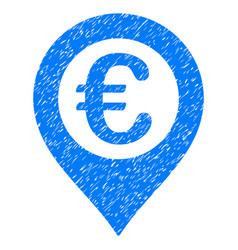 Euro pushpin grunge icon vector