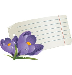 Floral notepaper vector