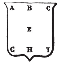 Heraldry points of the shield have some alphabets vector